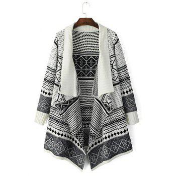Tribal Pattern Knitted Cardigan