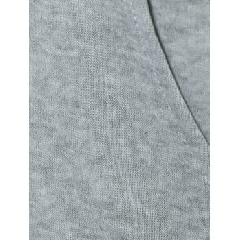 Drawstring Pocket Design Pullover Hoodie - GRAY L