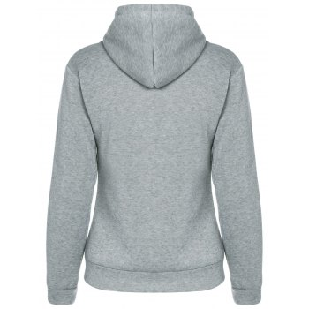 Drawstring Pocket Conception Hoodie Pull - Gris L