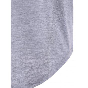 Camouflage Long Sleeve Happy Letter T-Shirt - GRAY GRAY