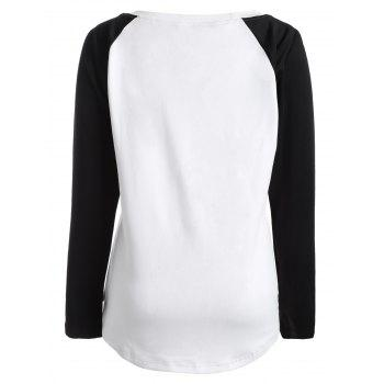 Halloween Raglan Sleeve T Shirt - WHITE XL