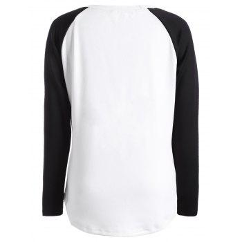 Raglan Sleeve Happy Halloween T Shirt - 2XL 2XL