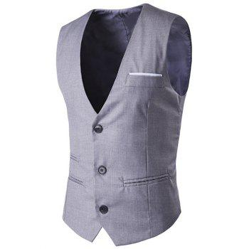 V-Neck Single-Breasted Edging Waistcoat