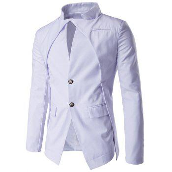 Stand Collar Single-Breasted Irregular Design Blazer