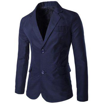Lapel Side Slit Single-Breasted Design Blazer