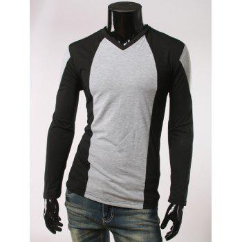 Long Sleeve V-Neck Slim Fit T-Shirt