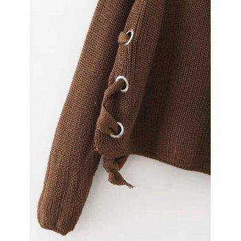Fin de l'automne Cercle Hoop Lace-Up Sweater - Café M
