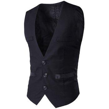 Welt Pocket Buckled unique poitrine Waistcoat