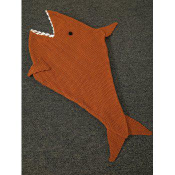 Comfortable Sleeping Bag Kids Sofa Bed Wrap Shark Blanket - BROWN BROWN