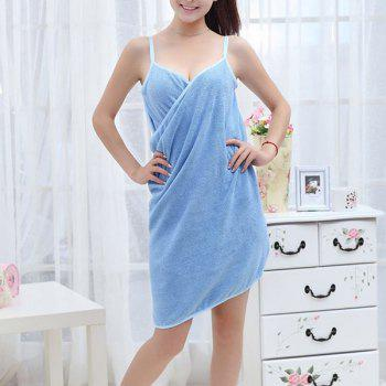 Bathroom Super Absorbent Magic Bath Skirt Towel - BLUE BLUE