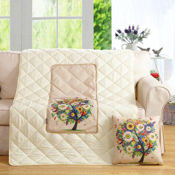 Colorful Tree Two Uses Cushion Pillow Noon Break Quilt - COLORFUL COLORFUL