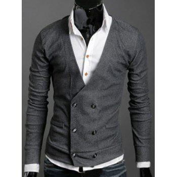 Double-Breasted Long Sleeves Cardigan
