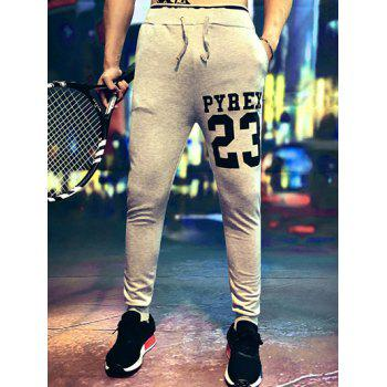 Lace-Up Number Print Jogger Pants