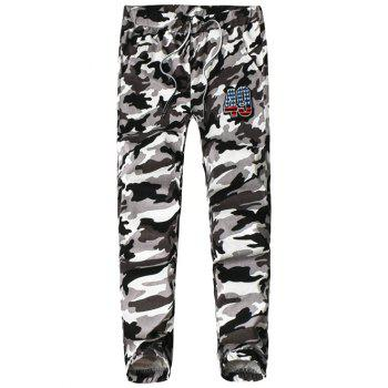 Elasticity Camouflage Lace-Up Jogger Pants