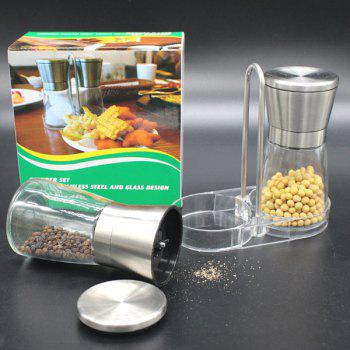 Stainless Steel Hand Operated Peper Bean Grinder