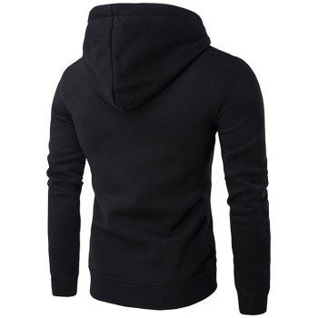 Sweat à Capuche Simple avec Poche Kangourou - Noir L