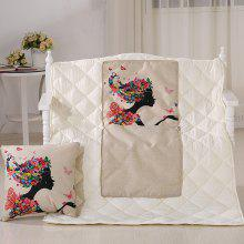Summer Air Condition Girl Printed Noon Break Quilt