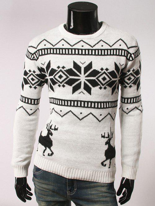 Fawn and Snow Pattern Long Sleeve Christmas Sweater 1kg lot 100