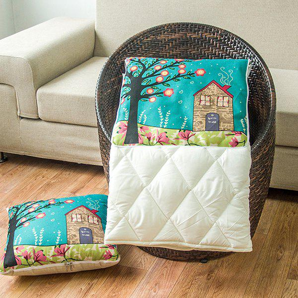 Multifunction Sofa Cushion Pillow or Noon Break Quilt - COLORMIX