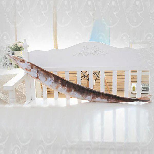 Creative Plush Saury Toy Cushion PillowHome<br><br><br>Color: LIGHT BROWN