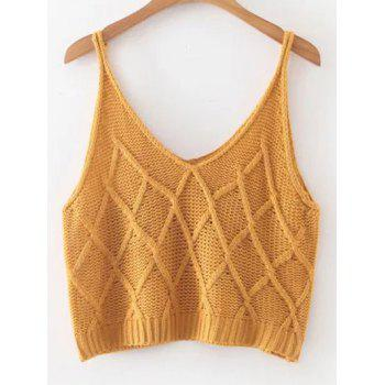 Knitted Checked Tank Top