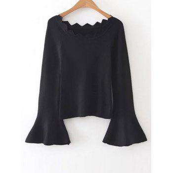 Bell Sleeves Knit Jumper