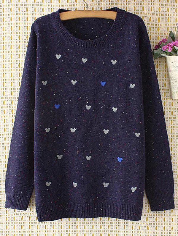 Oversized Embroidered Cartoon Sweater cartoon embroidered sweater