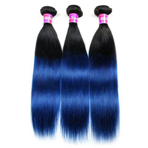 3 Pcs 5A Remy Ombre Color Straight Indian Hair Weaves - COLORMIX 16INCH*16INCH*18INCH