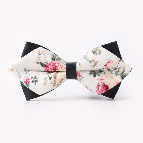 Business Suit Rose Sharp-Angled Double-Deck Bow Tie - OFF WHITE