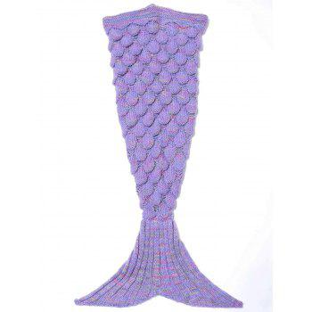Endearing Multicolored Knitted Strtchy Mermaid Blanket