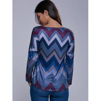 Zig Zag High-Low T-Shirt - M M