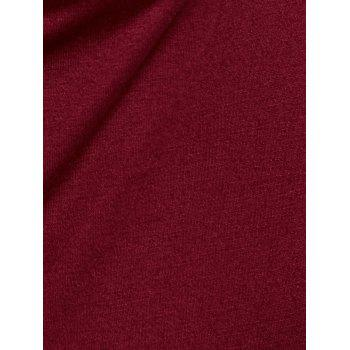 Skwe T-shirt col épaule froide - Rouge vineux M