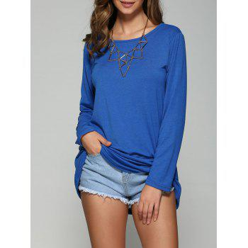 Long Sleeves T-Shirt - BLUE S