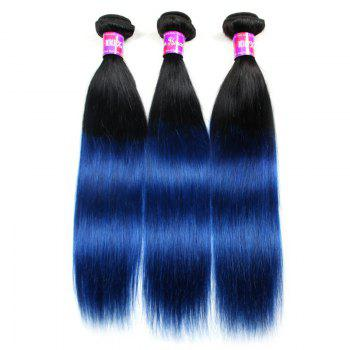 3 Pcs 5A Remy Ombre Color Straight Indian Hair Weaves - COLORMIX 18INCH*20INCH*20INCH