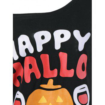 Pumpkin Lamp Skew Neck Halloween T-Shirt - XL XL