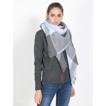 Streetwear Plaid Fringed Shawl Scarf