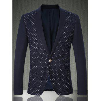 Notch Lapel Breast Pocket Printed One-Button Blazer