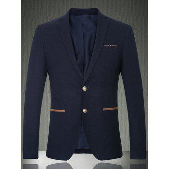 Notch Lapel Sleeve Buttons Single Breasted Blazer