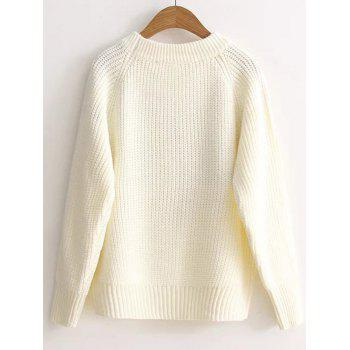 Pull floral brodé Pull - Blanc ONE SIZE