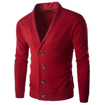 Shawl Collar Button Fly Slim-Fit Cardigan