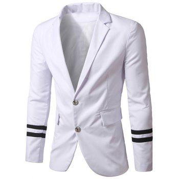 Slim-Fit Flap Pocket Varsity Stripe Blazer