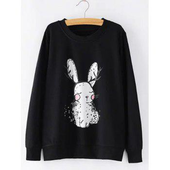 Plus Size Bunny Printed Sweatshirt