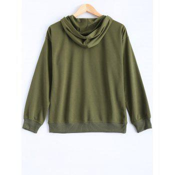 Pocket Design Pullover Hoodie - ARMY GREEN ARMY GREEN