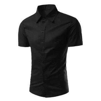 Short Sleeves Turn-Down Collar Business Shirt