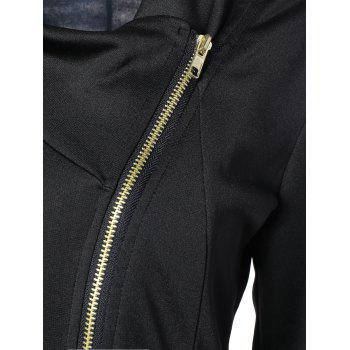 Side Asymmetric Zip Up Jacket - Noir M