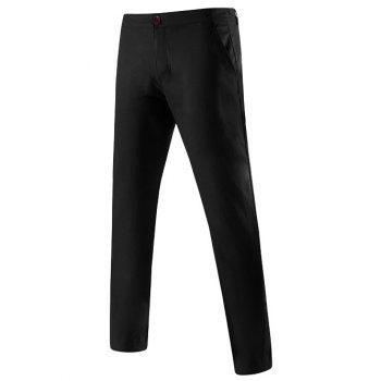 Pocket Back Mid-Rise Zipper Fly Chino Pants
