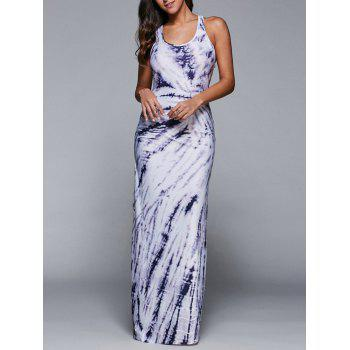 Racerback Casual Fitted Floor Length Maxi Tank Dress