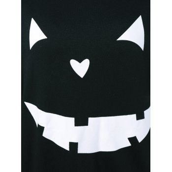 Halloween Grimace Print Sweatshirt - BLACK XL
