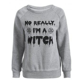 Buy Am Witch Sweatshirt GRAY