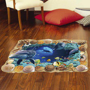 Removable 3D Sea Caves World Bedroom Kindergarten Decoration Floor Sticker